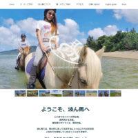 石垣島の海岸乗馬専門牧場 波ん馬